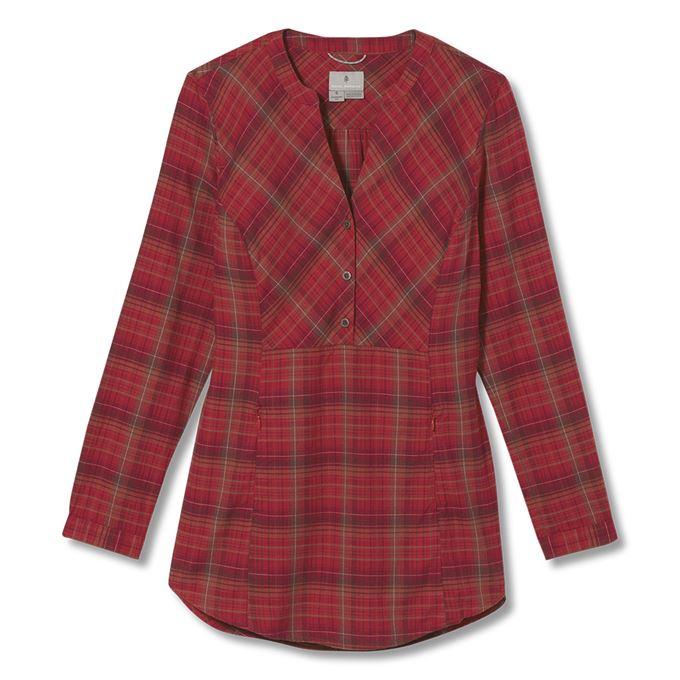 Royal Robbins Dream Trekker Pullover Flannel L/S Red Women's
