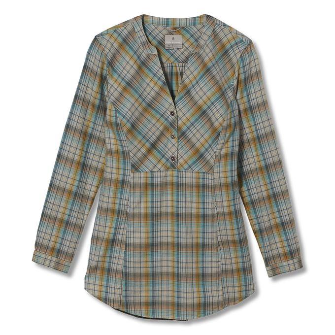 Royal Robbins Dream Trekker Pullover Flannel L/S Brown, Khaki Women's