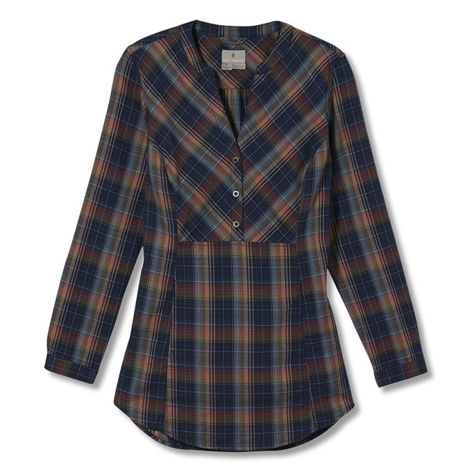 Royal Robbins Dream Trekker Pullover Flannel L/S Blue Women's