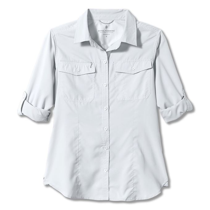 Royal Robbins Bug Barrier Expedition L/S White Women's