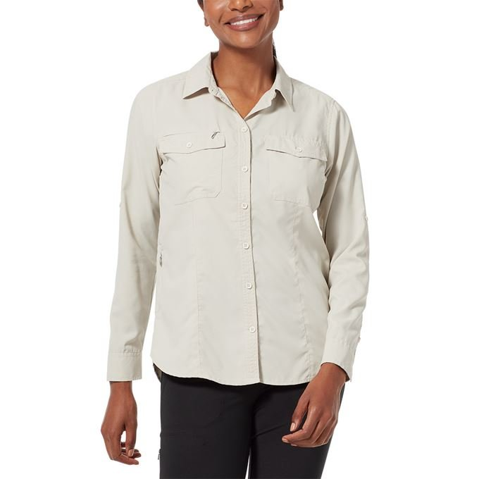 Royal Robbins Bug Barrier Expedition L/S Brown, Khaki Women's