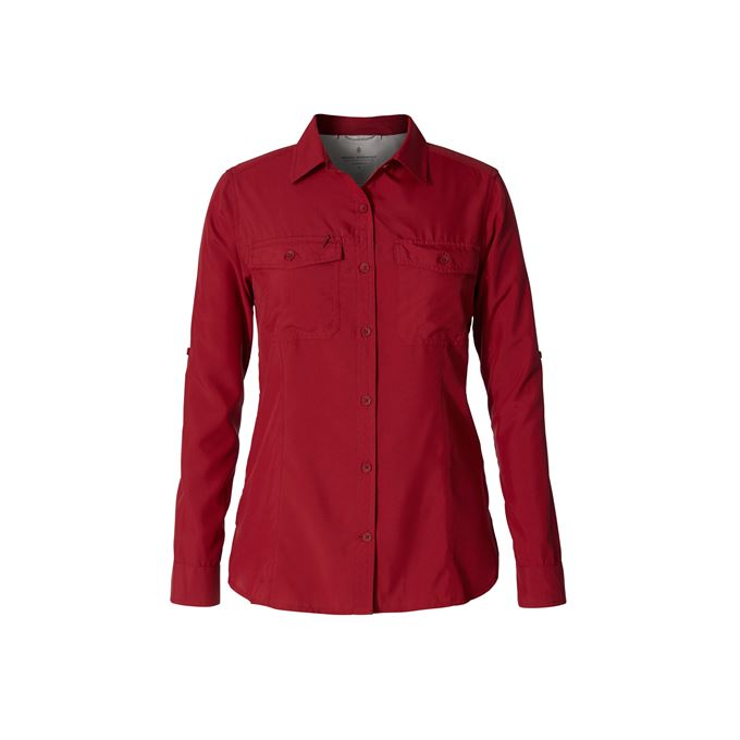 Royal Robbins Bug Barrier Expedition L/S Red Women's