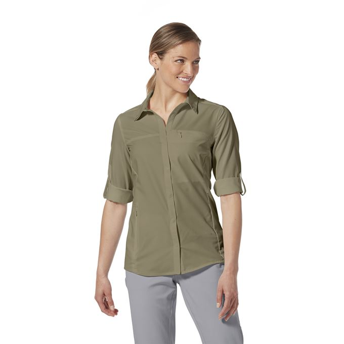 Royal Robbins Bug Barrier Expedition Pro L/S Grey Women's