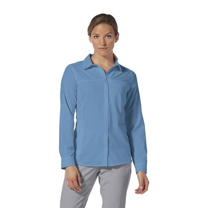 Royal Robbins Bug Barrier Expedition Pro L/S Blue Women's