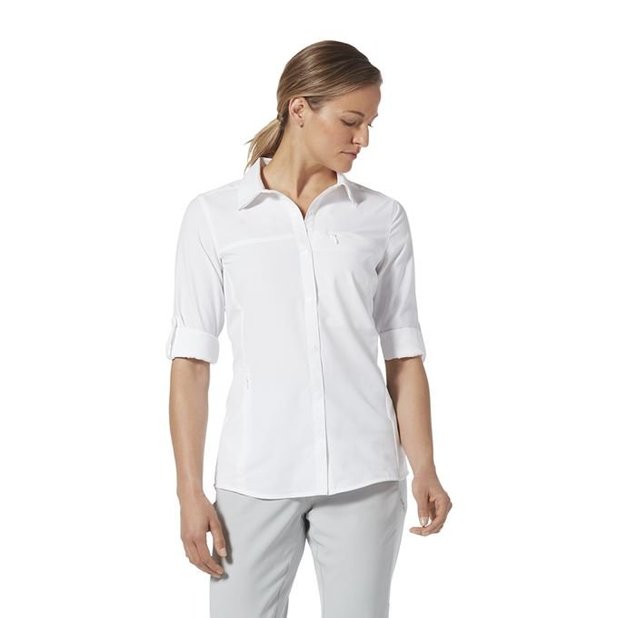 Royal Robbins Bug Barrier Expedition Pro L/S White Women's