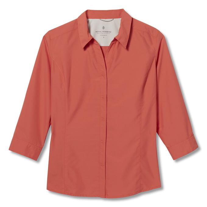 Royal Robbins Expedition II 3/4 Sleeve Red Women's
