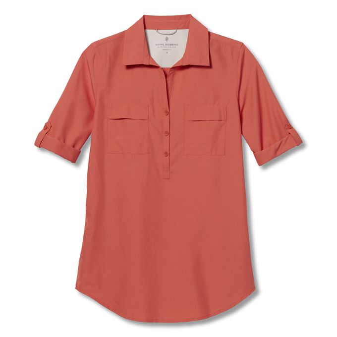 Royal Robbins Expedition II Tunic Red Women's
