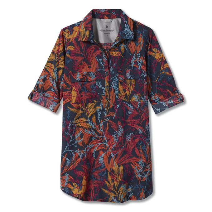 Royal Robbins Expedition Tunic Print Blue, Red, Multicolor Women's