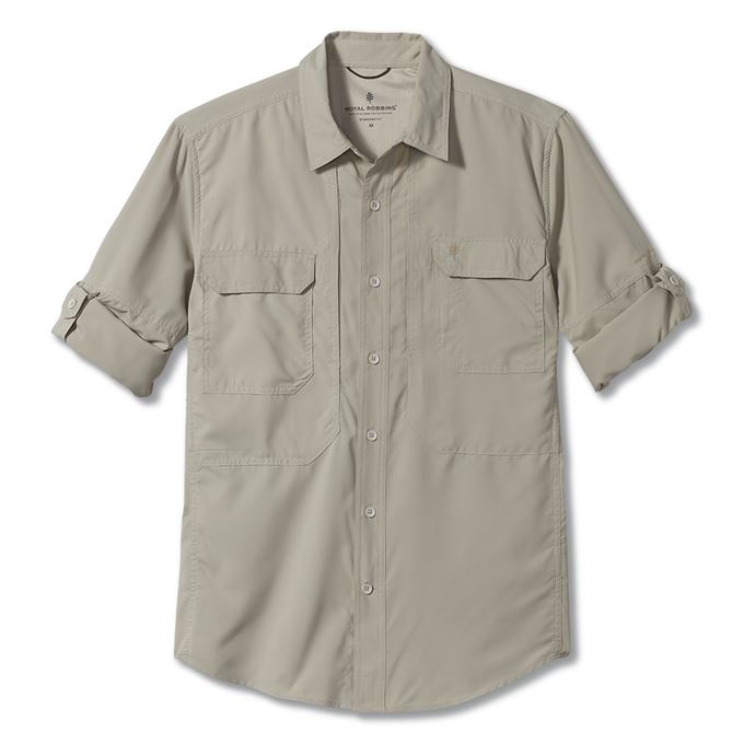 Royal Robbins Expedition Chill Long Sleeve Brown, Khaki Men's