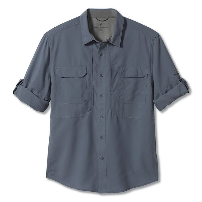 Royal robbins Expedition Chill Long Sleeve Blue Men's