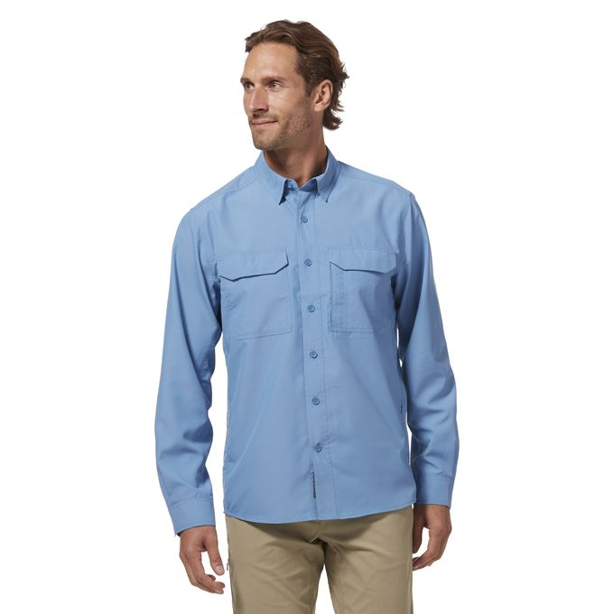 Royal Robbins Global Expedition II L/S Blue Men's