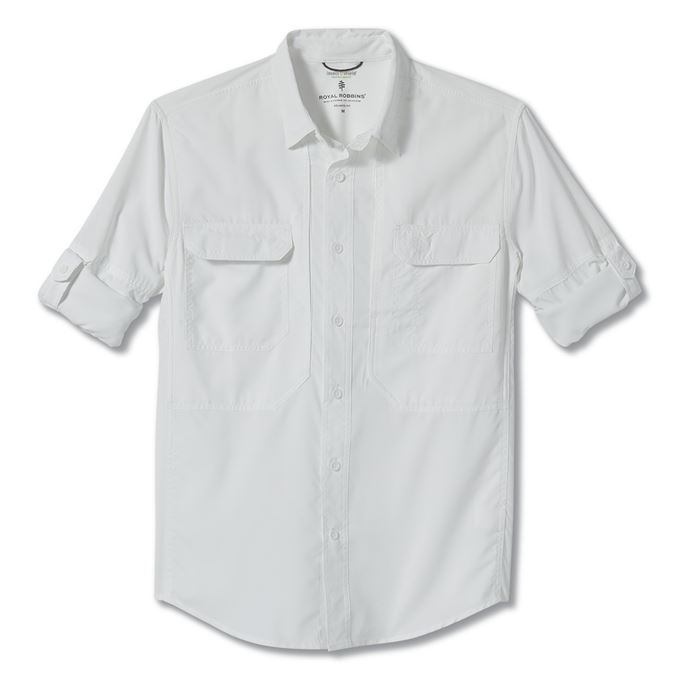 Royal robbins Bug Barrier Expedition Long Sleeve White Men's