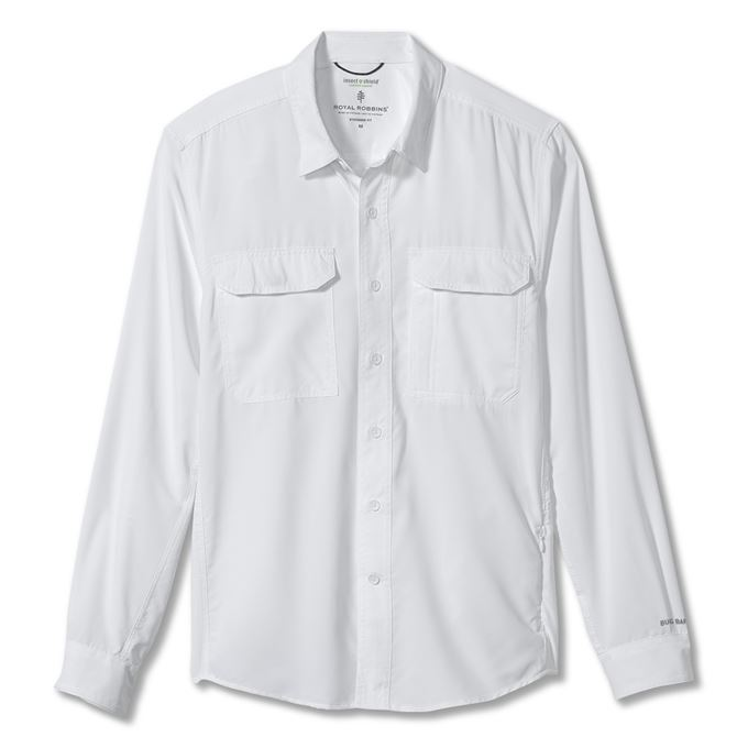 Royal robbins Bug Barrier Global Expedition L/S White Men's