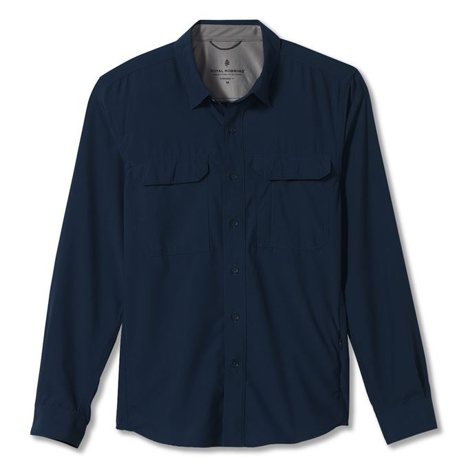 Royal robbins Global Expedition L/S Blue Men's