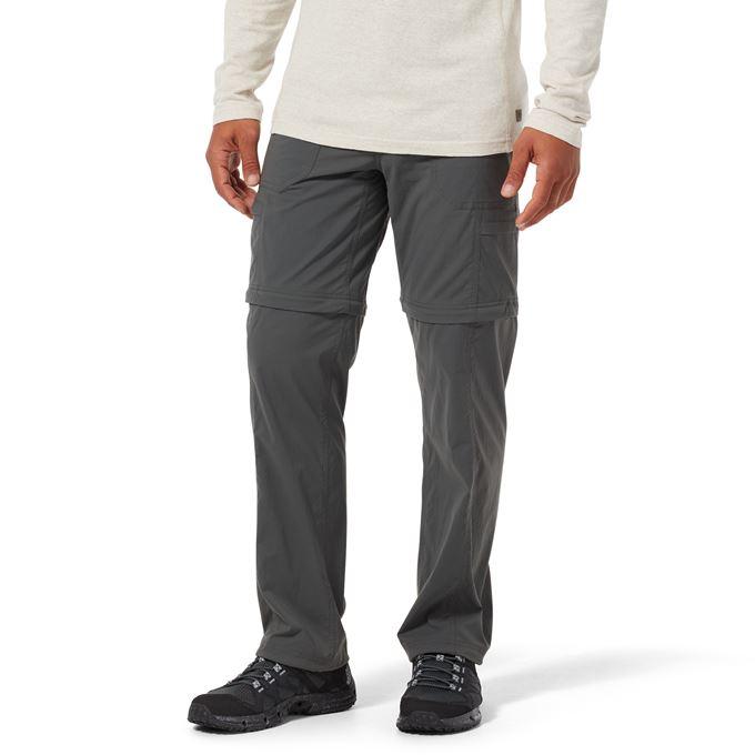 Royal Robbins Men's Pants Grey Model Close-up