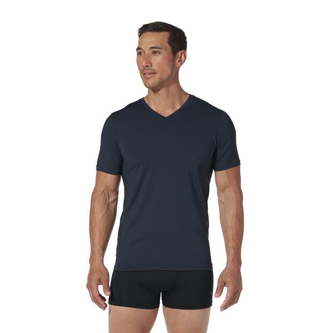 Royal Robbins Men's Underwear Blue Model Close-up