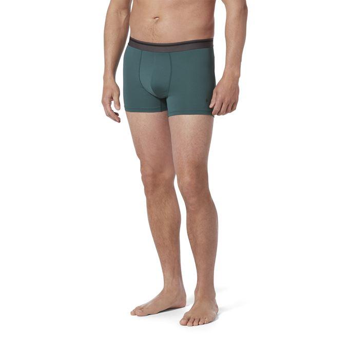 Royal Robbins Men's Underwear Blue, Green Model Close-up