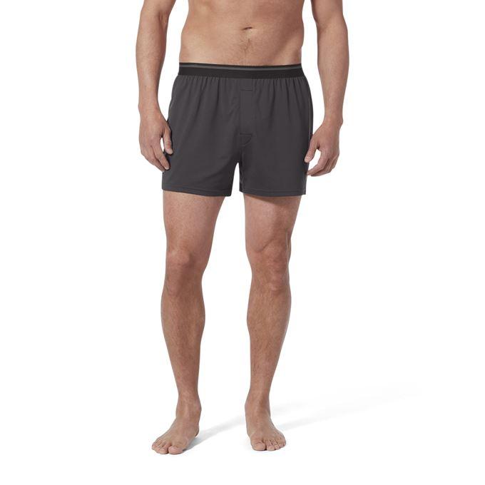 Royal Robbins Men's Underwear Grey Model Close-up