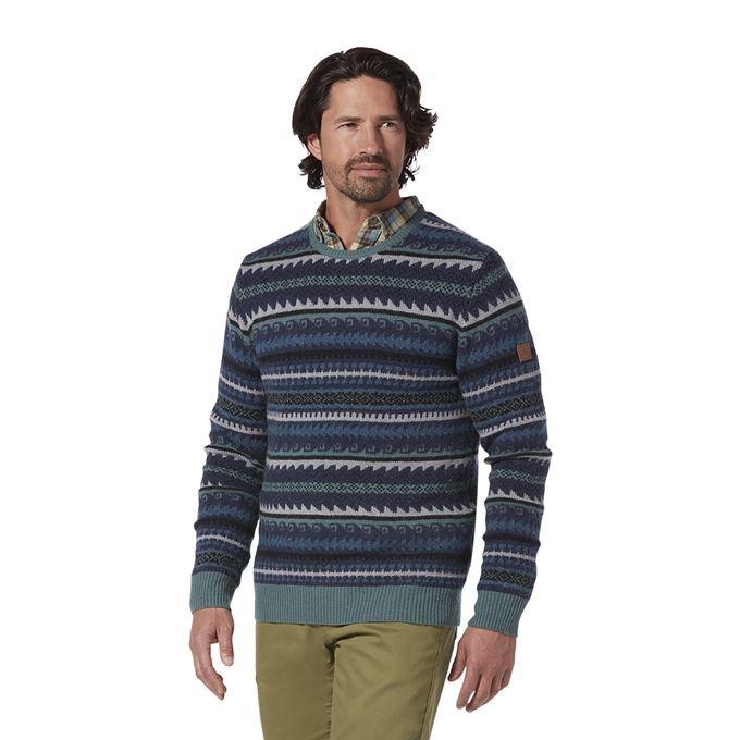 Royal Robbins Men's Sweaters Green Model Close-up