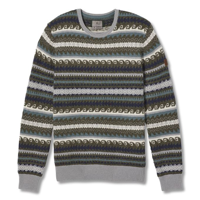 Royal Robbins Sequoia Sweater Men's Sweaters Grey, Blue Main Front