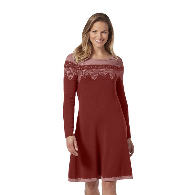 Royal Robbins Women's Dresses Brown, Red Model Close-up