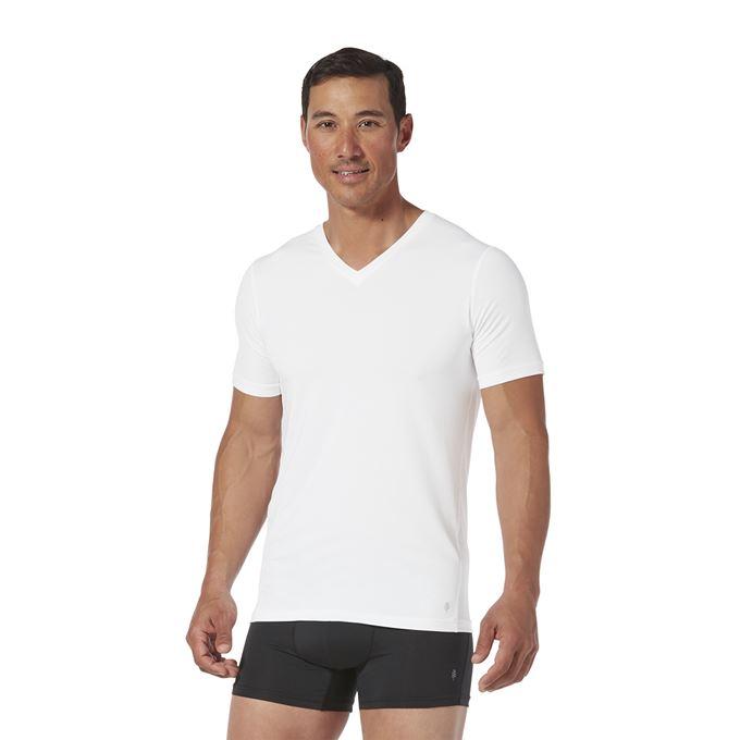 Royal Robbins Men's Underwear White, Black Model Close-up