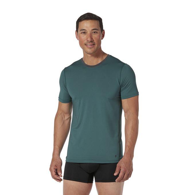 Royal Robbins Men's Underwear Blue, Green, Black Model Close-up